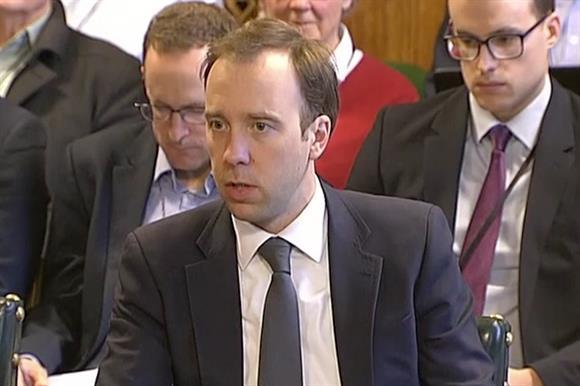 Matt Hancock appears before MPs