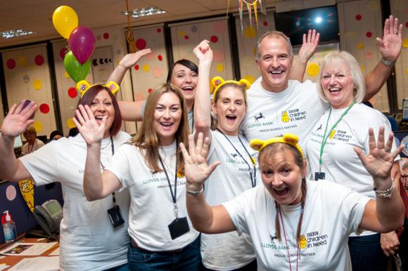 Lloyds Banking Group staff support BBC Children in Need