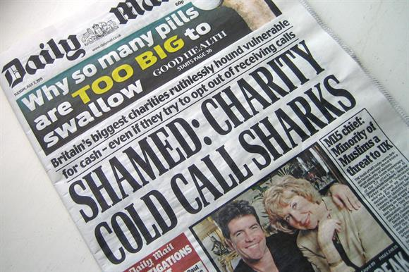 Many national newspapers have run negative stories about fundraising practices