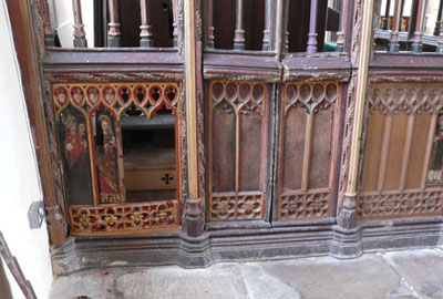 The panels were a rare example of work from the late medieval period