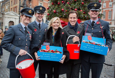 Royal British Legion's London Poppy Day appeal with Fiona Fullerton and Anton Du Beke