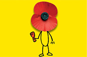 Caption: The Poppy People logo, which appears on Facebook
