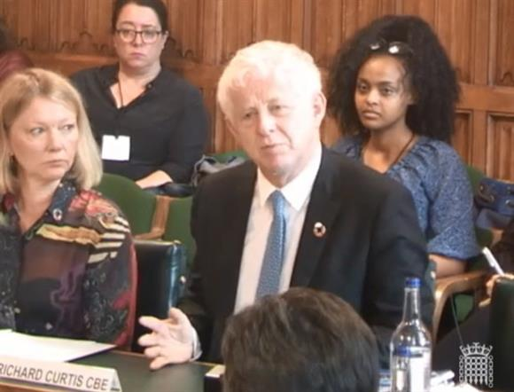 Richard Curtis at the hearing