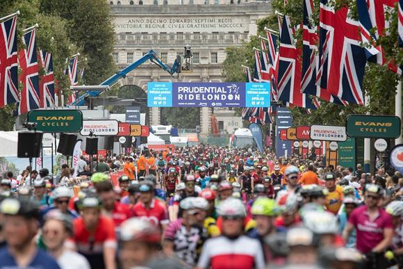 This weekend's RideLondon (Photograph: Jon Super for Prudential RideLondon)