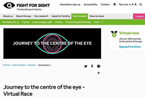 Fight for Sight launches eye health app for virtual 10k race