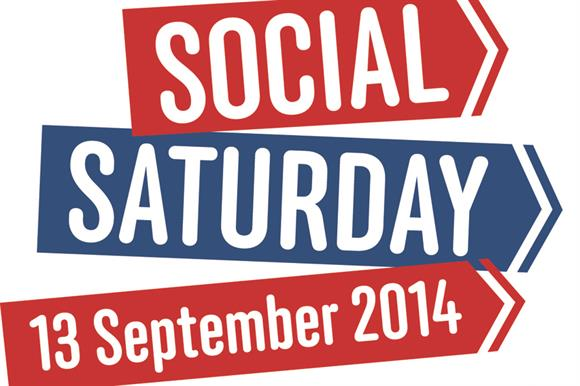 A logo and other materials have been created to promote Social Saturday