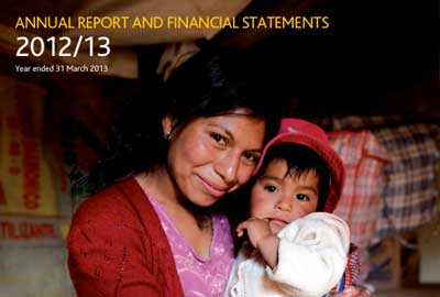 Tearfund's annual report