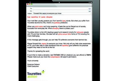 The Tourettes Action email
