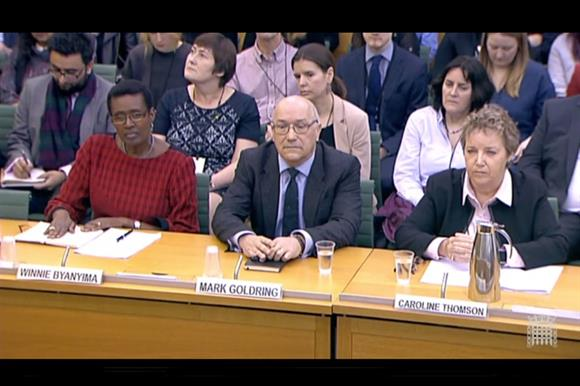 Oxfam representatives give evidence to MPs