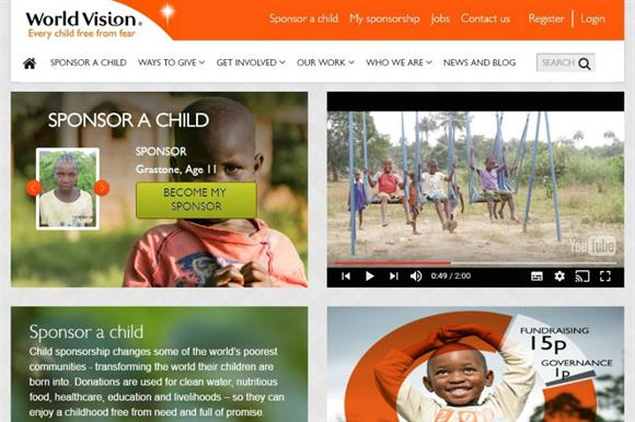 World Vision website