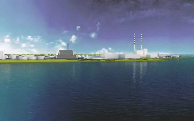 An artist's impression of Poolbeg