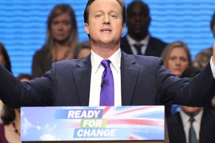 Tory leader: David Cameron