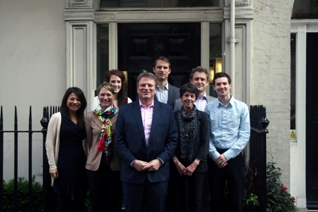 Some of the JTA team at the new London office