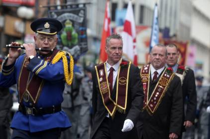 Northern Ireland: A traditional Protestant parade