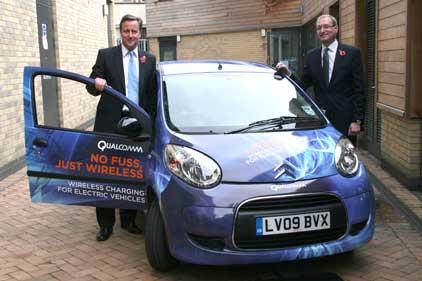 David Cameron: at the Qualcomm initiative launch