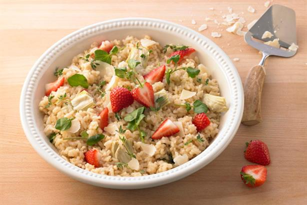 Flavours: Cirkle produced a series of recipes including strawberry risotto