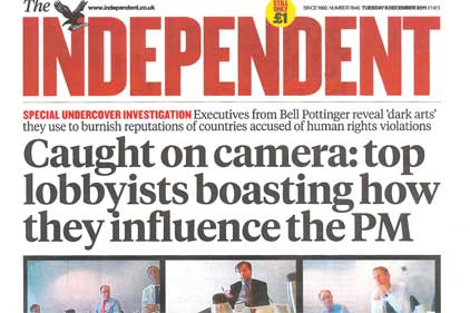 The Independent: reveals Bell Pottinger's apparent claims to control online content