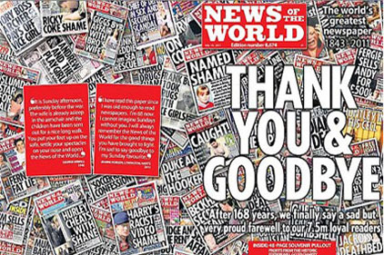 The News of the World: the final edition