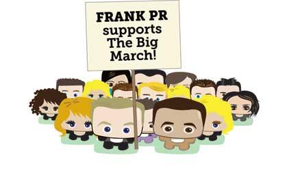 Mini marchers: Frank PR avatars