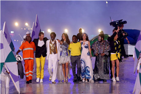 Rio 2016: Brazillian performers at the closing ceremony (Credit: Wander Roberto/Rio2016)
