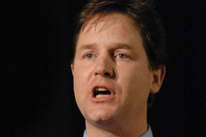 Nick Clegg: overseeing register