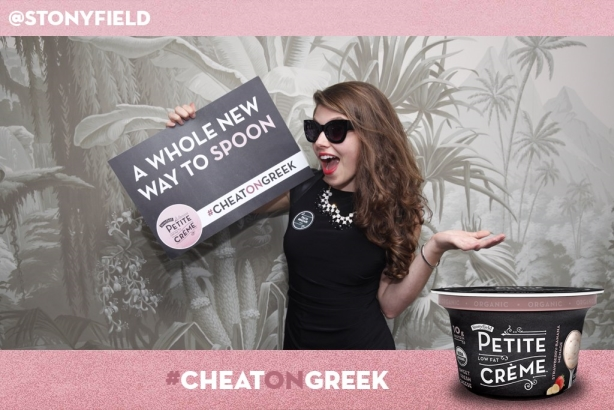 Stonyfield invited consumers to #Cheatongreek by trying a new product.