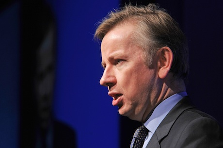 Michael Gove: pictured at the Children and Young People Now awards (presented by Ravi Chandiramani)