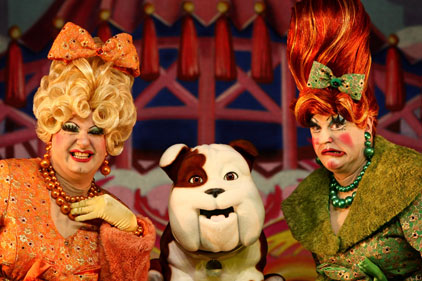 22 panto appearances: Churchill nodding dog