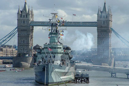 HMS Belfast: social media drive