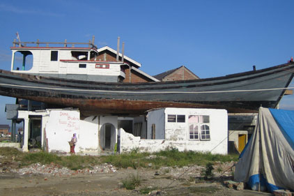 Devastation: millions of people lost their homes