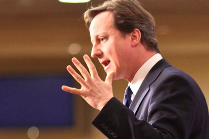 Accusations: Tory leader David Cameron
