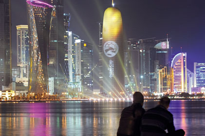 Attracting attention: Qatar [pic: Rex]