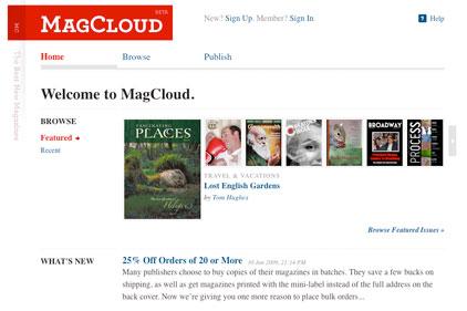 MagCloud: digital and print media overlap