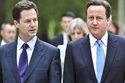 Power shift: Clegg and Cameron formed coalition