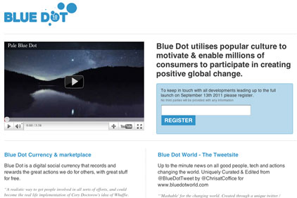 Blue Dot: rewards charitable actions