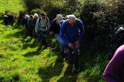 Taking a hike: Tourists in Cornwall