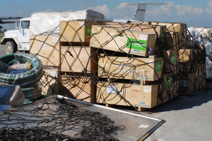 Rescue effort: disaster aid and relief supplies