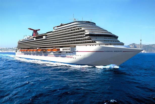 Carnival Breeze: seeking to boost its image in Britain