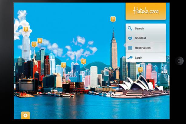 Hotels.com: launched its first iPad app in September 2011