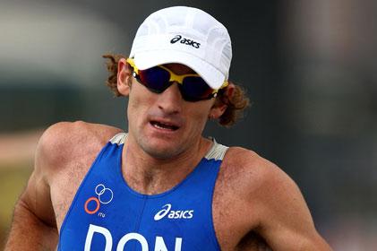 On track: Triathlete Tim Don is an Asics ambassador