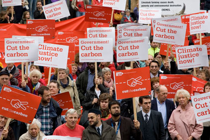 Environment conscious: Christian Aid campaigners