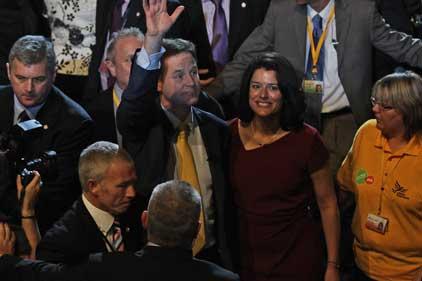 Lobbying target: Nick Clegg at conference