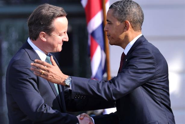 Backing the campaign: David Cameron and Barack Obama (Getty Images)