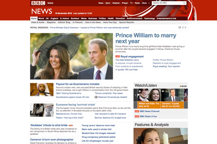 Influential: BBC website