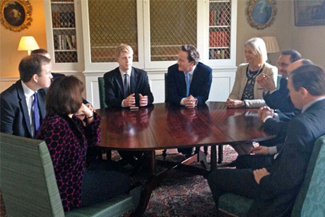 Policy lead: Jo Johnson, centre left, is heading the new board