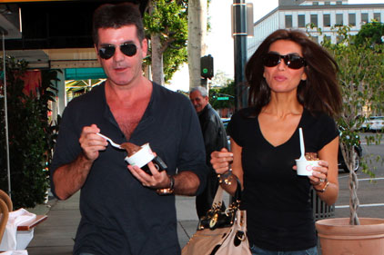 Simon Cowell: a Pinkberry frozen yogurt fan
