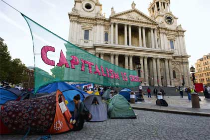Occupy London: protesters outside St Paul's Cathedral