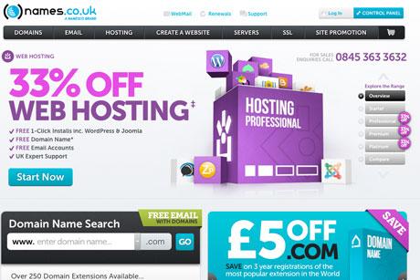 Namesco: Rebranded as names.co.uk