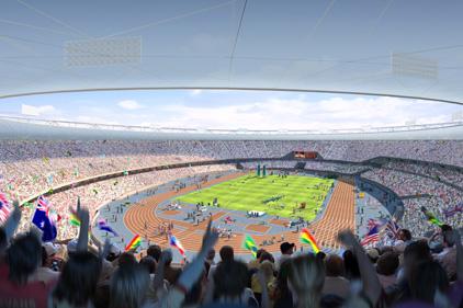 Olympic stadium: computerised image