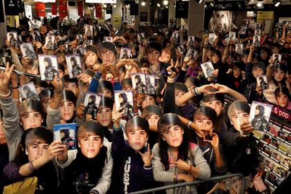 True Beliebers: Shine launch Justin Bieber's DVD